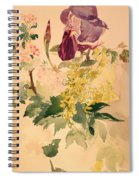 Flower Piece With Iris Laburnum And Geranium Spiral Notebook