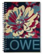 Flower Poster Spiral Notebook