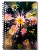 Flower Song On Fairy Wing Spiral Notebook