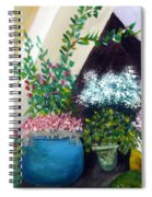 Flower Stand On Worth Ave In Palm Beach Spiral Notebook