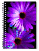 Flower Study 6 - Vibrant Purple By Sharon Cummings Spiral Notebook