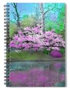 Flower Tree Reflections Spiral Notebook