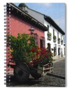 Flower Wagon Antigua Guatemala Spiral Notebook