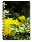 Flower - Austin Botanical Gardens -  Luther Fine Art Spiral Notebook