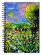 Flowered Village Spiral Notebook