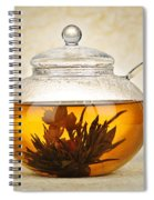 Flowering Blooming Tea Spiral Notebook