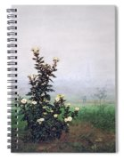 Flowering Chrysanthemum With Worker Spiral Notebook