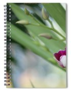 Flowering  Orchid Stem Spiral Notebook