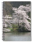 Flowering Tree At The Pond Spiral Notebook