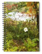Flowers Along The River In Fall Spiral Notebook