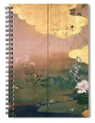 Flowers And Birds Of The Four Seasons Spiral Notebook