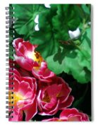 Flowers And Leaves Spiral Notebook