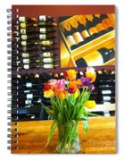 Flowers And Wine Spiral Notebook