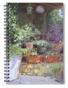 Flowers At Lida's Veranda Spiral Notebook