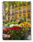 Flowers At Market Spiral Notebook
