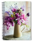 Flowers At The Post Office Spiral Notebook