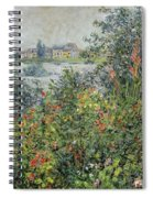 Flowers At Vetheuil Spiral Notebook