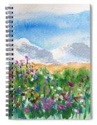 Flowers At Wolf Creek Spiral Notebook