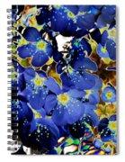 Flowers Blue Spiral Notebook