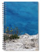 Flowers By The Blue Spiral Notebook