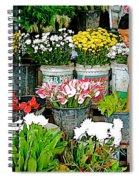 Flowers For Sale In Marketplace In Tachilek-burma Spiral Notebook