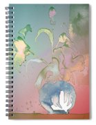 Flowers Ghosts Spiral Notebook