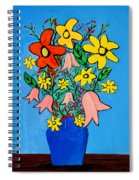 Flowers In A Blue Vase Spiral Notebook