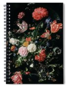 Flowers In A Glass Vase, Circa 1660 Spiral Notebook