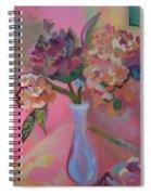 Flowers In A Lavender Vase Spiral Notebook