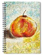 Flowers In A Mosaic Apple Spiral Notebook