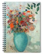 Flowers In A Turquoise Vase Spiral Notebook