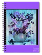 Flowers In A Vase With Lilac Border Spiral Notebook