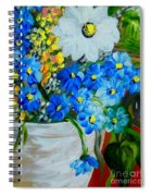 Flowers In A White Vase Spiral Notebook