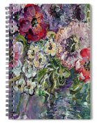 Flowers In An Antique Blue Vase Spiral Notebook