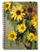 Flowers In Fall 2 Spiral Notebook