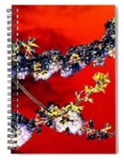 Flowers In Red Spiral Notebook