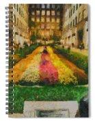 Flowers In Rockefeller Plaza Spiral Notebook