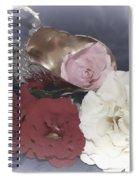 Flowers In Silver Spiral Notebook