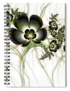 Flowers In The Antique Look Spiral Notebook