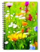 Flowers In The Garden Spiral Notebook