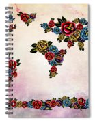 Flowers Map  Spiral Notebook