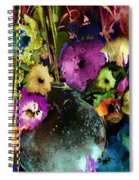 Flowers Night Party Spiral Notebook