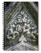Flowers On A Grave Stone Spiral Notebook