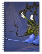Flowers On Skis Spiral Notebook