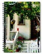 Flowers On Steps Spiral Notebook
