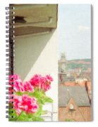 Flowers On The Balcony Spiral Notebook