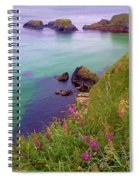 Flowers On The Coast Spiral Notebook