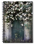Flowers On The Door Spiral Notebook