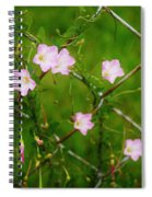 Flowers... On The Fence Spiral Notebook