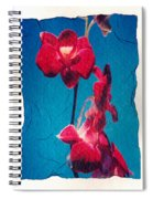Flowers On Watercolor Paper Spiral Notebook